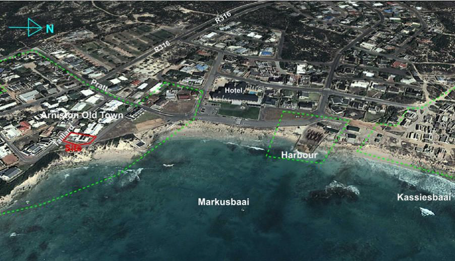 Aerial photograph of Arniston, 2014