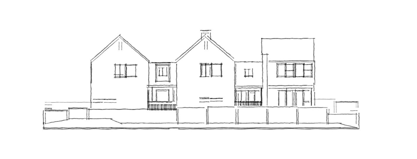 Proposed East Elevation sketch