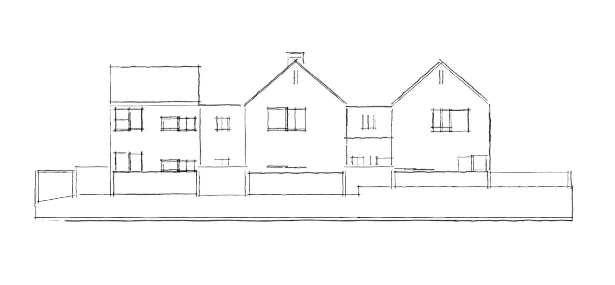 Proposed West Elevation sketch