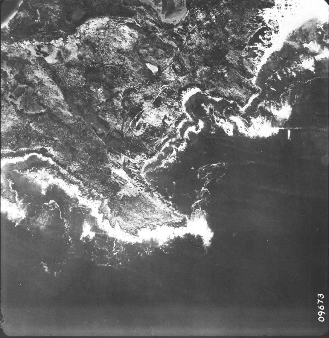 Historic aerial of Stony point, 1951