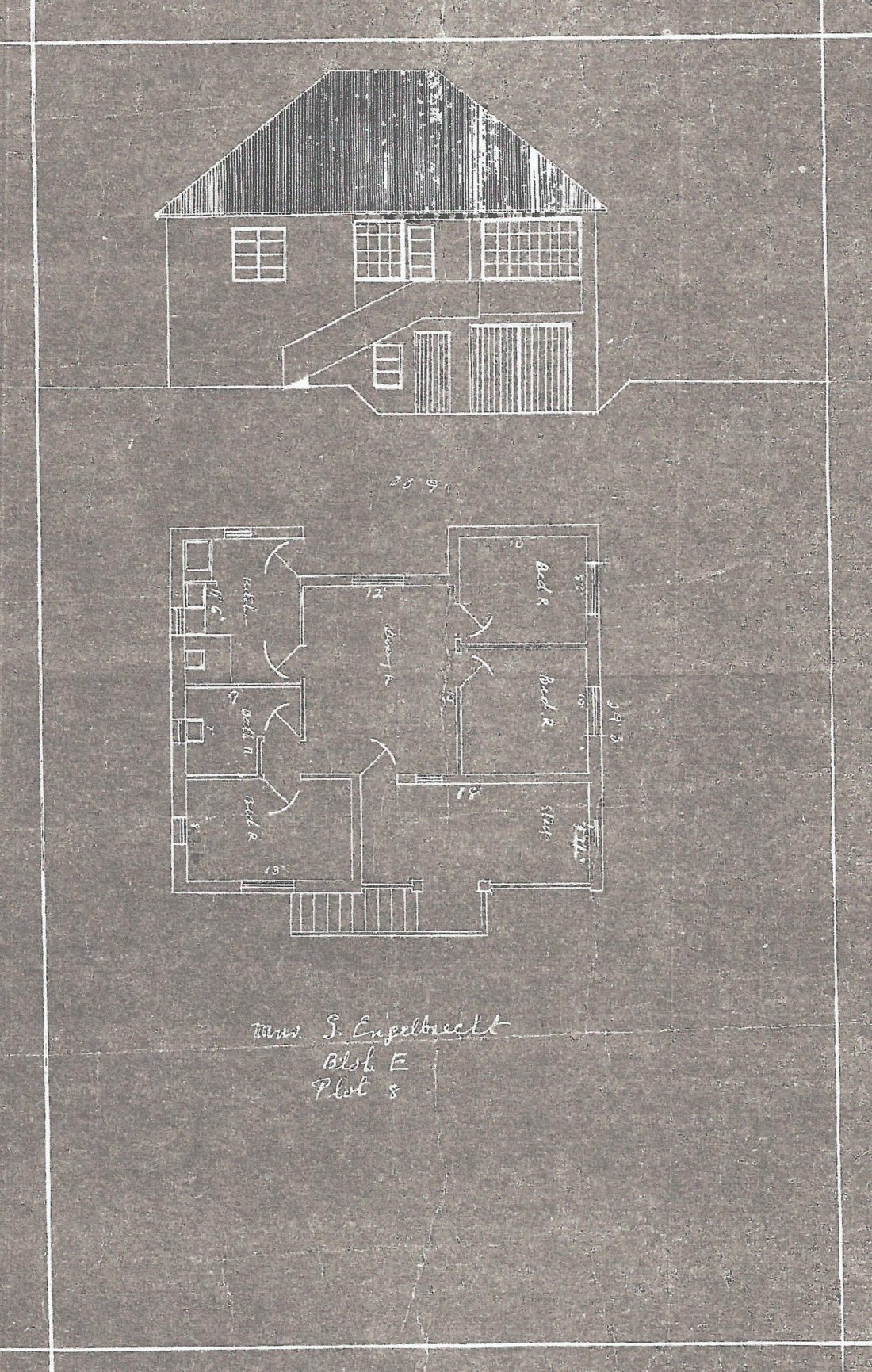Original building plan, c.1942