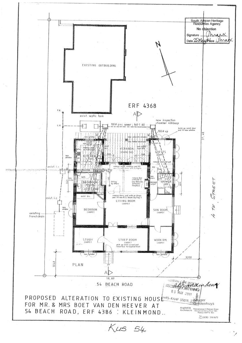 Floor plan - Proposed additions in 2001
