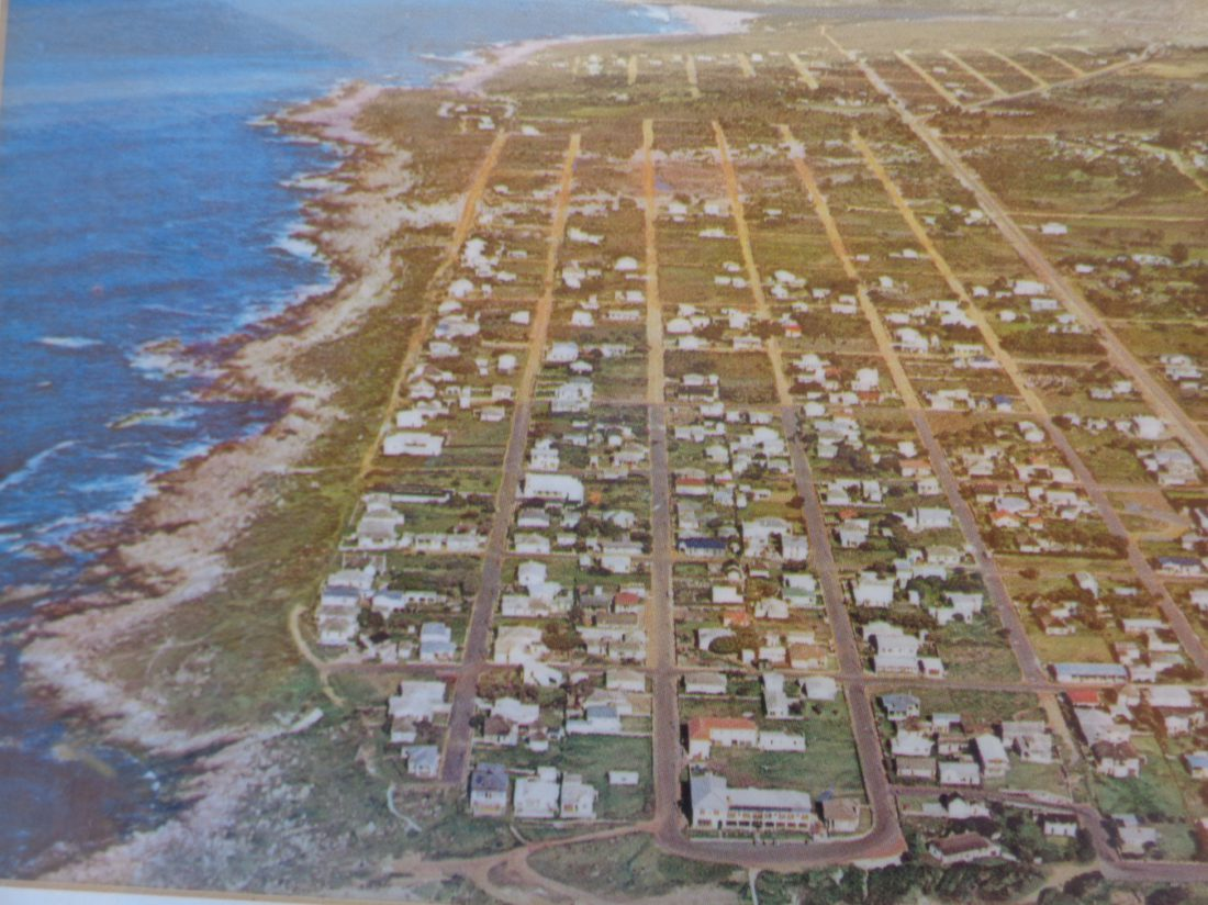 Aerial of Kleinmond looking West, c.1960s
