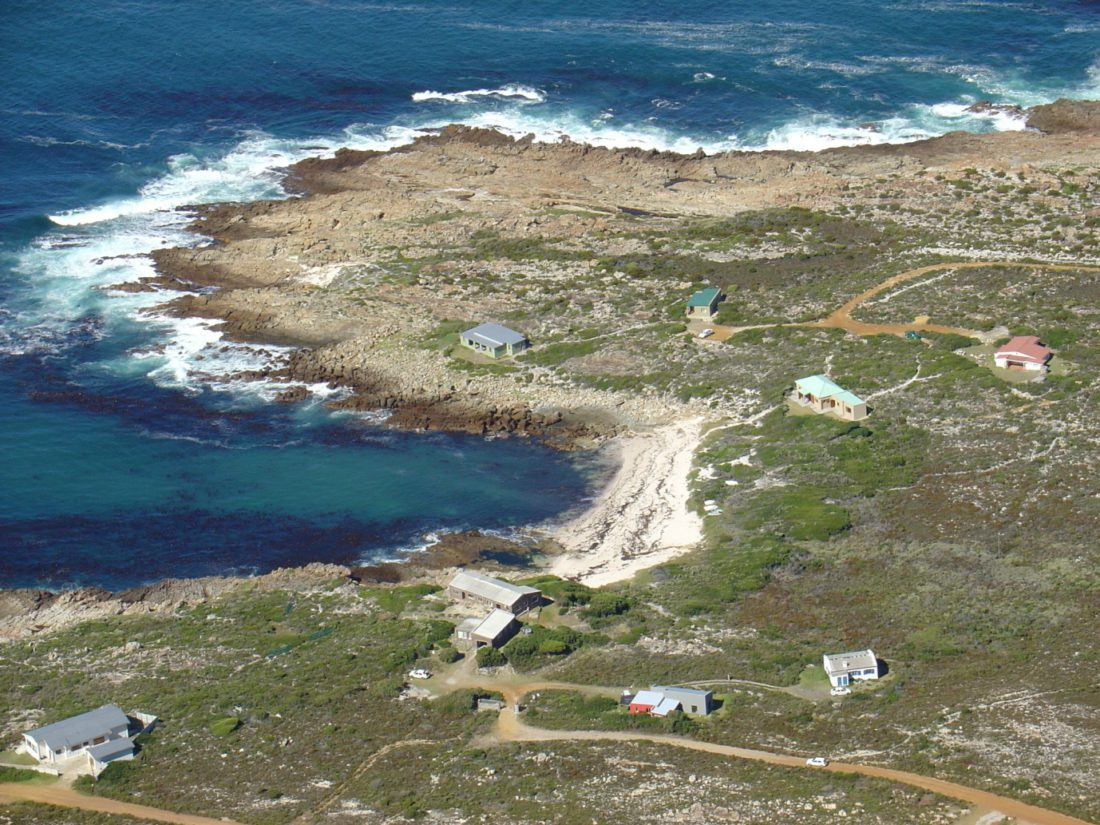 Aerial photograph of De Wet's Bay