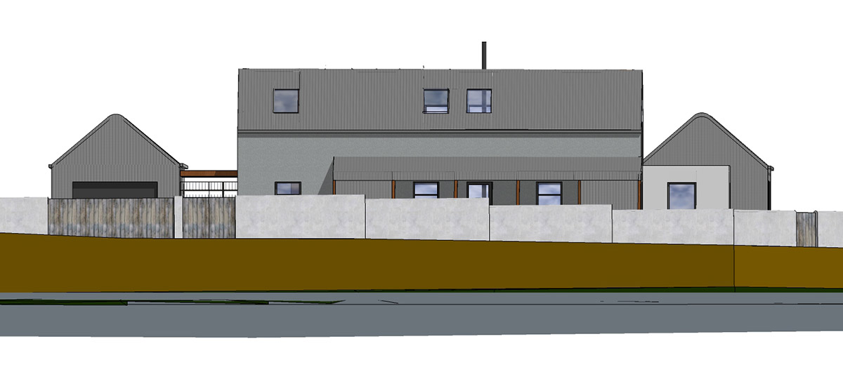 Proposal of South-East Street Elevation