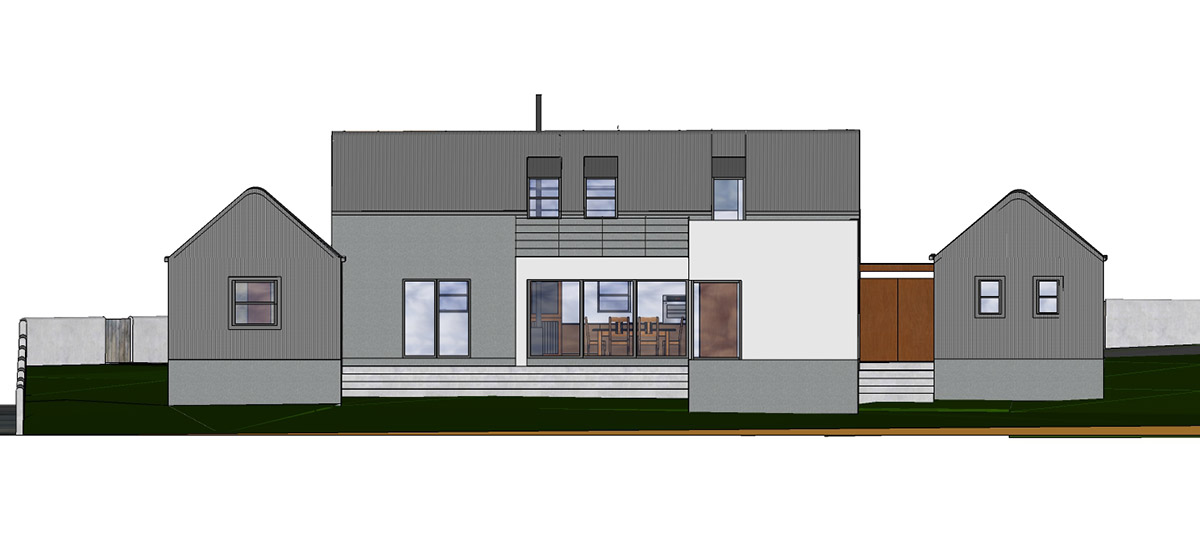 Proposed North-West rear view