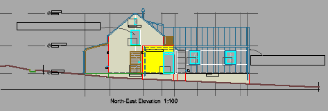 Proposed North-East elevation