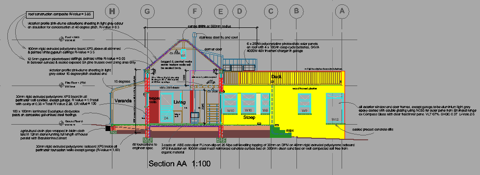 Proposed section AA