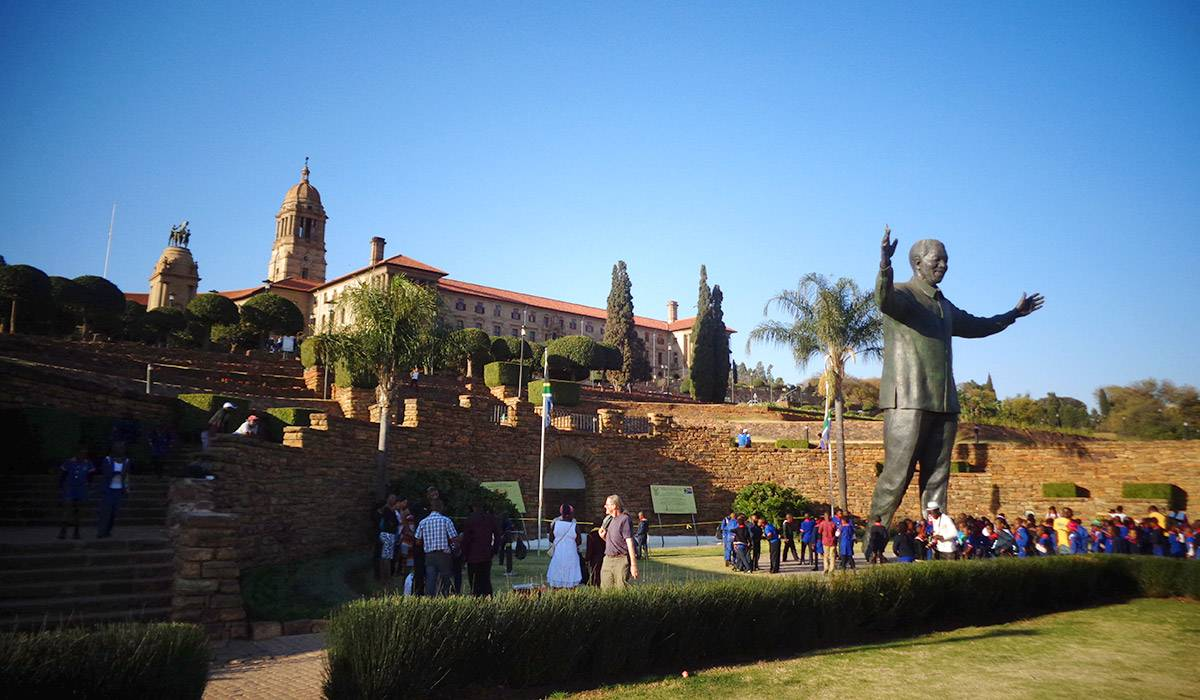 Union Buildings with the Madiba statue in the foreground
