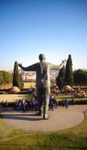 Madiba statue at the Union Buildings