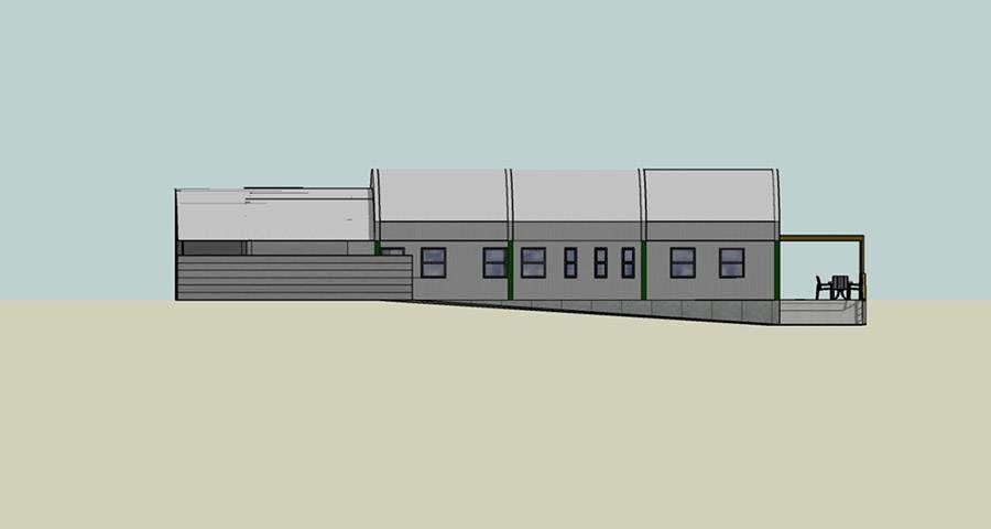 Proposed south elevation of the SANCCOB Bird Rehabilitation Centre