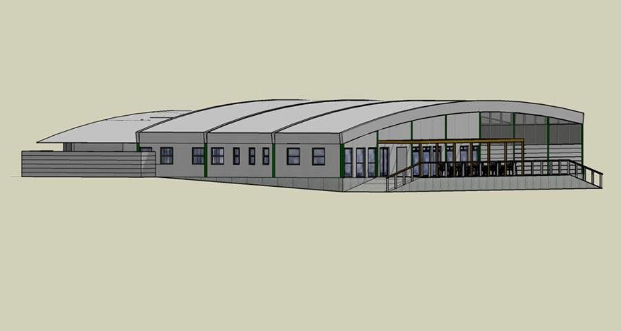 Proposed South-East elevation