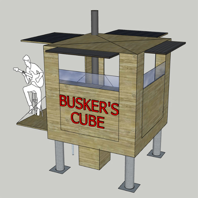 Busker's Cube bring live music to the outdoors